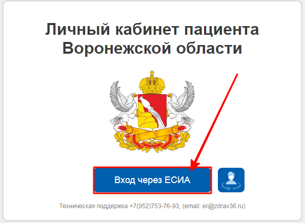 Кнопка для входа через ЕСИА